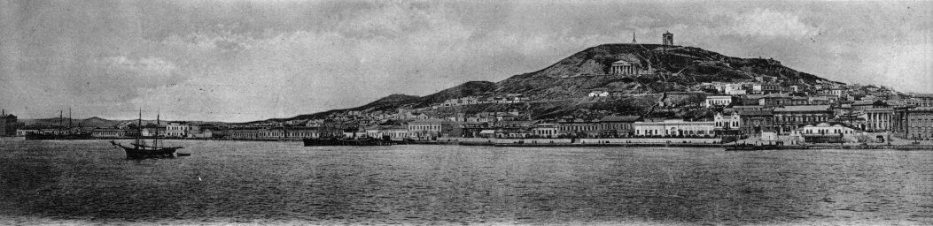 Общий вид города Керчь с залива в начале ХХ века