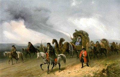 Татары, путешествующие по степи
