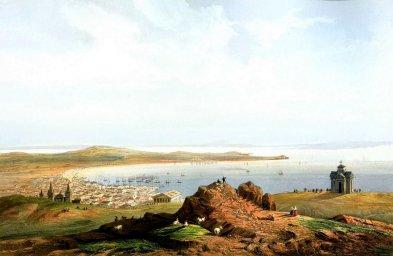 Общий вид Керченского залива с горы Митридат